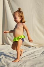 baby girl wearing a Graffiti bikini bottom