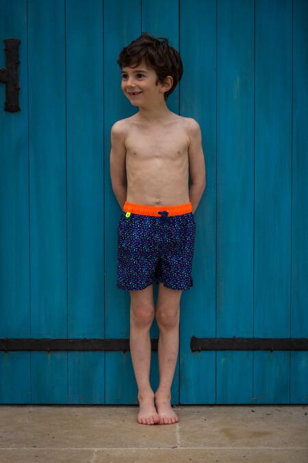 Boy wearing a swimsuit with elasticated belt Meno Bondi Beach