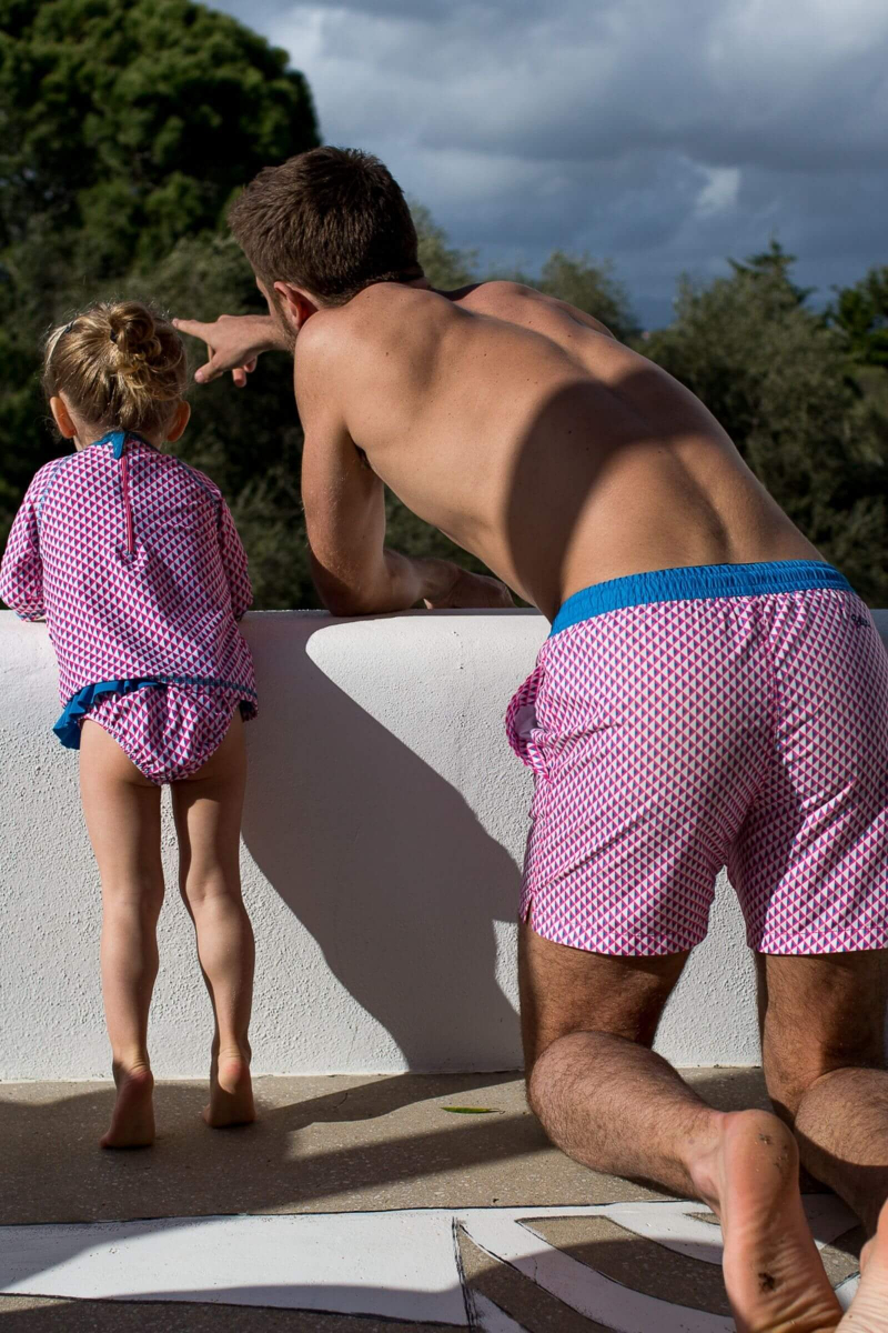 men wearing a swimsuit with ultra-fast drying fabric Miami Beach