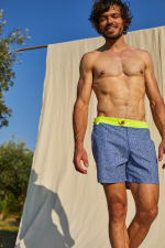 Focus men swimsuit sunny atolls with buttoned belt