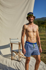 men wearing a swimsuit with ultra-fast drying fabric Blue Atolls