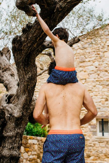 Man wearing a swimsuit with elasticated belt Bondi beach