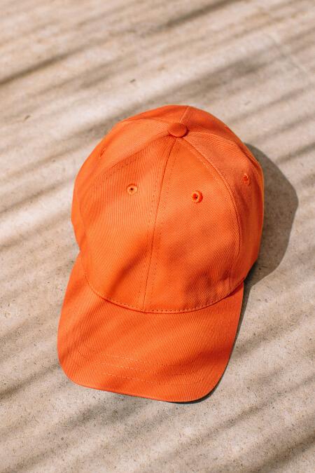 Casquette unie orange adulte et enfant