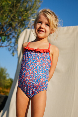 girl wearing a one-piece swimsuit Pink Reef