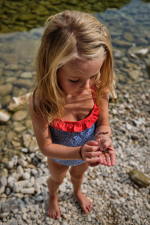 girl wearing a one-piece swimsuit Off the Coast