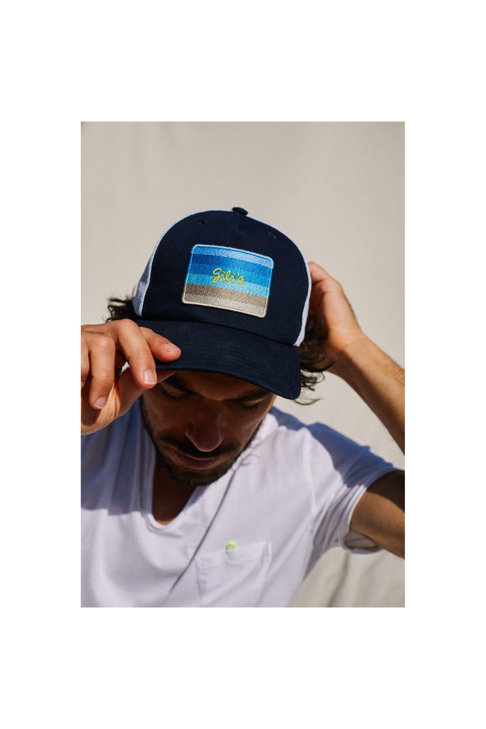 Sunset patch cap adult and kids