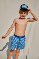 Garçon portant un maillot de bain à ceinture élastique Meno Full Moon