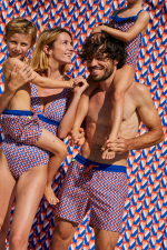 Boy wearing a swimsuit with elasticated belt Meno Lucy in the Sky